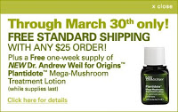 Fun Giveaway: Dr. Andrew Weil for Origins Plantidote Mega Mushroom Treatment Lotion