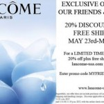 20% Off and Free Shipping at Lancome-usa.com