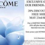 20% Off and Free Shipping at Lancome-usa.com