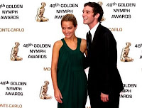 Becki Newton and Michael Urie at The Golden Nymph Awards