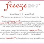 Freeze 24-7 Facebook Giveaway