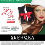 Sephora Friends and Family: 20% Off!