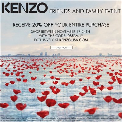Kenzo Parfums Friends & Family 20% Off Discount