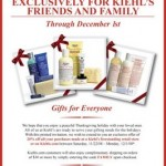 Kiehl's Friends and Family Discount Through December 1