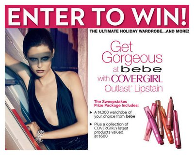 CoverGirl and Bebe Partner to Sponsor Sweepstakes