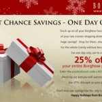 25% Off at Borghese.com