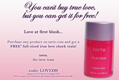 Free tarte Cheek Stain!