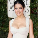 Salma Hayek's Makeup at The Golden Globes