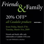 Caudalie Friends & Family : 20% Off