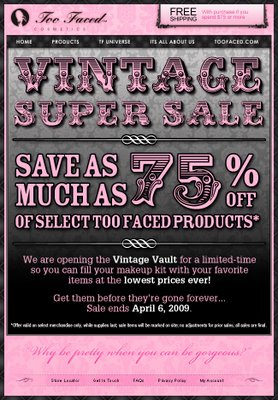 Too Faced Super Sale