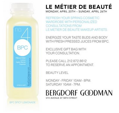 Get a Personalized Consultation from Le Metier de Beaute Makeup Artists and an Exclusive Gift Bag