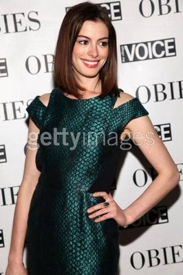 Anne Hathaway at the Obie Awards