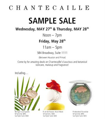 Chantecaille Sample Sale