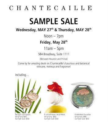 Chantecaille Sample Sale