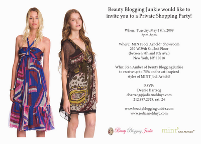 REMINDER: Come To My Private Sample Sale at MINT Jodi Arnold Tonight!