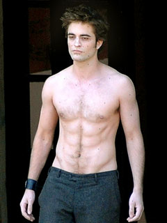 Shirtless Robert Pattinson