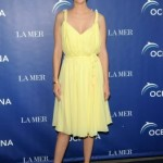 January Jones at La Mer's World Oceans Day Celebration