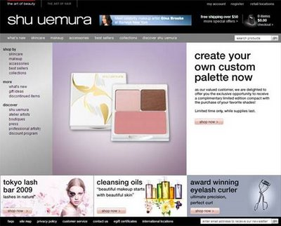 Get a Shu Uemura Complimentary Palette Compact!
