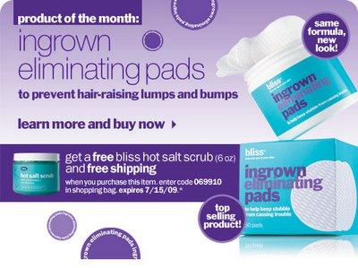 Free Bliss Ingrown Eliminating Pads
