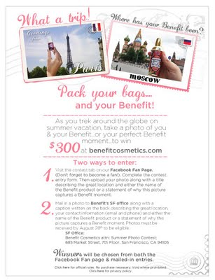 Win $300 To Spend At Benefitcosmetics.com