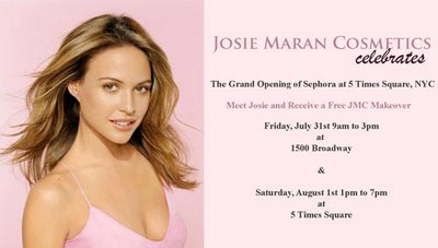 Josie Maran To Give Makeovers at the New Times Square Sephora