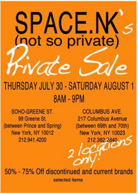 "Space.NK ""Not so Private"" Sale"