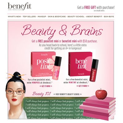Free Mini Benetint or Posietint at Benefitcosmetics.com