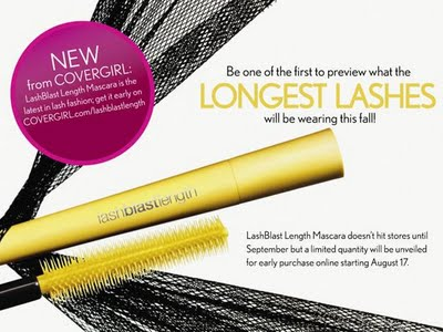 New From COVERGIRL: LashBlast Length Mascara