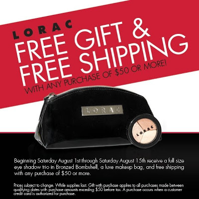 LORAC Cosmetics Gift With Purchase + Free Shipping