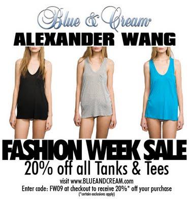 Alexander Wang T-shirt Sale at Blue & Cream