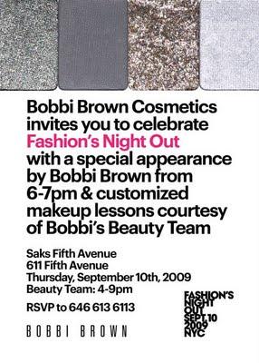 Fashion's Night Out: Bobbi Brown Cosmetics