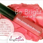 Three Custom Color Supports BCA Month with Be Bright Pink Lip Gloss