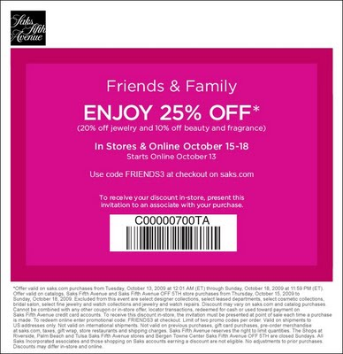 Saks off fifth coupon code