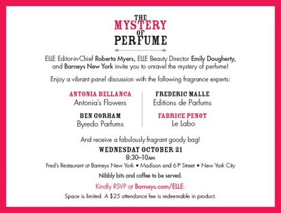 NYC Gals: Check out The Mystery of Perfume Event at Barney's New York!