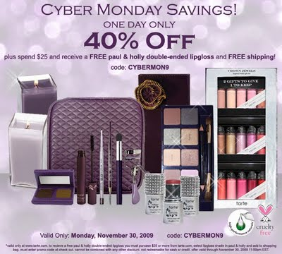 tarte Cyber Monday Deals: 40% Off
