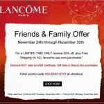 Lancome Friends & Family