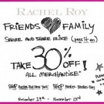 Rachel Roy Friends And Family Discount!