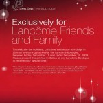 Lancome Friends & Family!