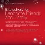 Lancome Friends & Family!