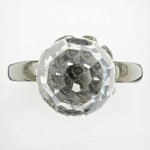 Bargain: Simply Vera Vera Wang Silver -Tone Crystal Dome Ring