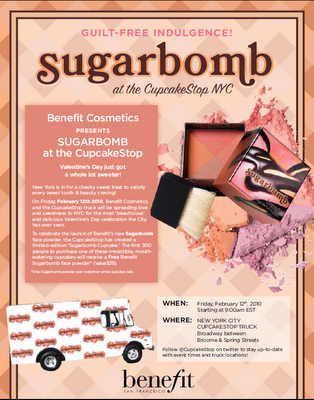 Get A Free Sugarbomb from Benefit On February 12!