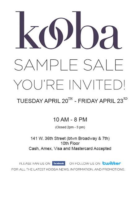 Kooba Sample Sale!