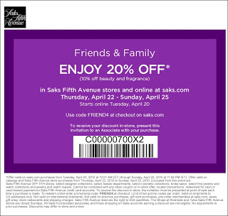 coupon for saks fifth avenue outlet