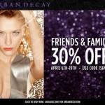 Urban Decay Friends and Family: 30% Off