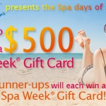 Enter to Win a $500 Spa Week Gift Card!