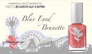 Priti Blue Eyed Brunette Nail Polish Premieres on Boardwalk Empire