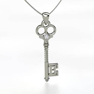 Last Giveaway of the Day: Gemvara Silver Initial Key Pendant