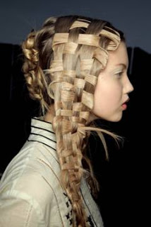 Basket-woven Hair at McQueen's Spring 2011 Show