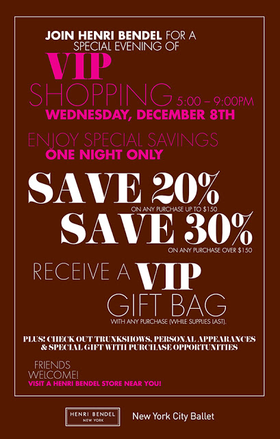 VIP Shopping Event at Henri Bendel