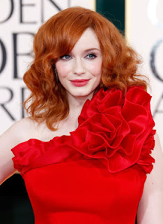 Get The Look: Christina Hendricks At The 2011 Golden Globes